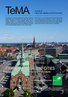 ECCA 2015 - Smart and Resilient Cities. Ideas and Practices from the South of Europe